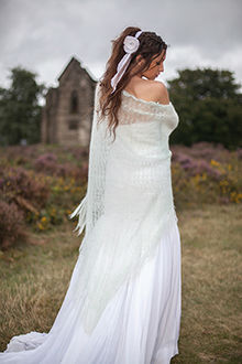 Bridal wedding shawl Marie